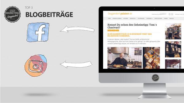 Blog, Aktionen, Veranstaltungen auf Facebook und Instagram