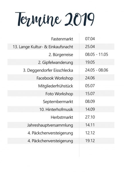 Termine des Stadtmarketing Deggendorf